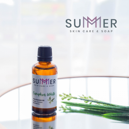 Summer Soap Pure Camphor White 100 mL Essential Oil 100% Natural Plant Aromatherapy Diffuser Humidifier Massage
