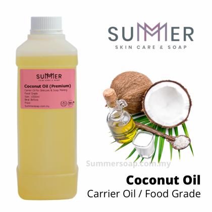 Summersoap Coconut Oil (Premium Food Grade) 1000ml (1L) Soap Making Oil / Skincare DIY