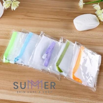 Bubble Foaming Net (10pcs) Bath Shower Net Saver Bag Suds Easy Bubble Net 起泡网 SUMMER SOAP