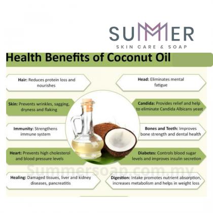 Summersoap Coconut Oil (Premium Food Grade) 5000ml (5L) Soap Making Oil / Skincare DIY