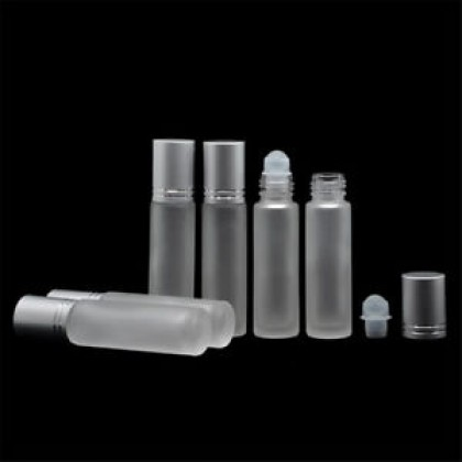 Frosted/Amber Glass Roller-ball Bottle 10ml 磨砂/茶色玻璃珠子瓶 (5pcs/5个)