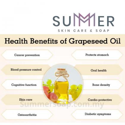 Grape Seed Oil Refined 100ml Natural Cold Pressed Carrier Oil Base Oil 精制葡萄籽油 Massage Oil, Make up remover, Soap Making Oil