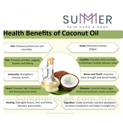 Summer Soap Premium Coconut Oil (RBD) Food Grade 500ml for Soap Making Oil / Skincare DIY